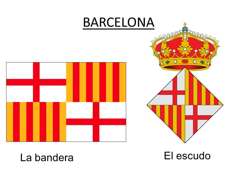 BARCELONA La bandera El escudo