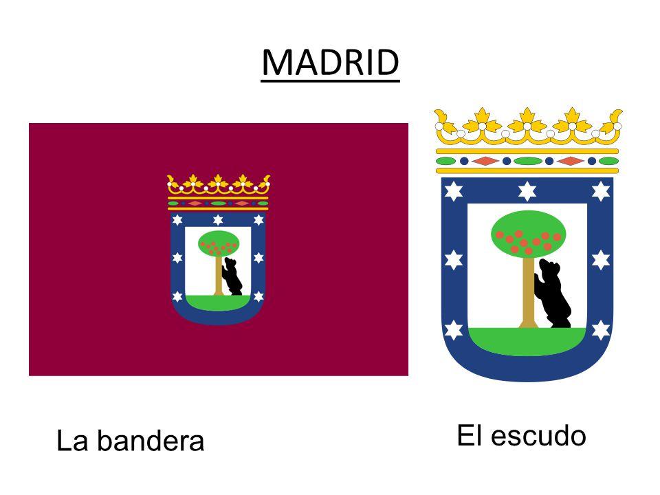 MADRID La bandera El escudo