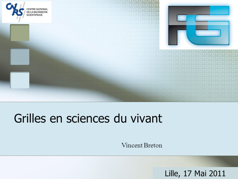 Life sciences activities on the French NGI Early adoption of the grid paradigm: 2001 Topics addressed:  bioinformatics (phylogenetics, proteomics)  Structural biology  In silico drug discovery  Epidemiology  Medical physics  Medical imaging (T.