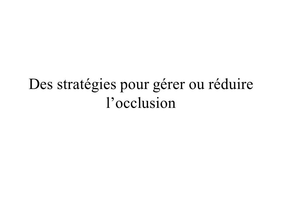 Des stratégies pour gérer ou réduire l'occlusion