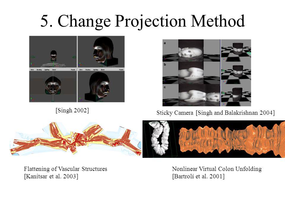 5. Change Projection Method Flattening of Vascular Structures [Kanitsar et al.