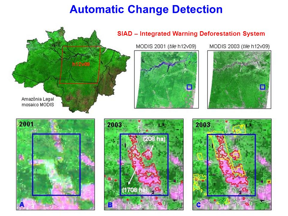 Automatic Change Detection SIAD – Integrated Warning Deforestation System