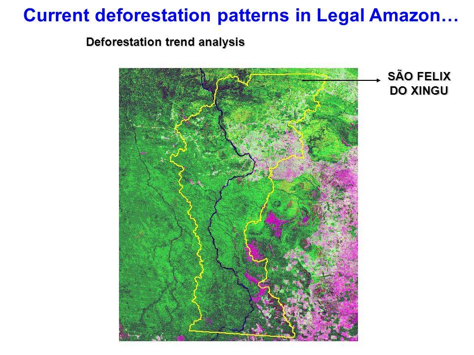 Current deforestation patterns in Legal Amazon… SÃO FELIX DO XINGU Deforestation trend analysis