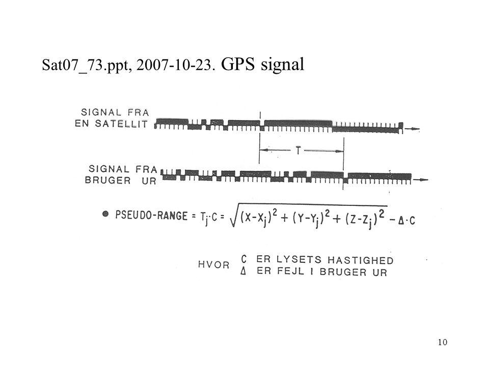 10 Sat07_73.ppt, 2007-10-23. GPS signal