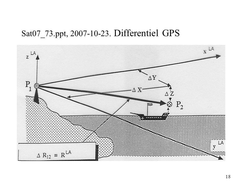 18 Sat07_73.ppt, 2007-10-23. Differentiel GPS