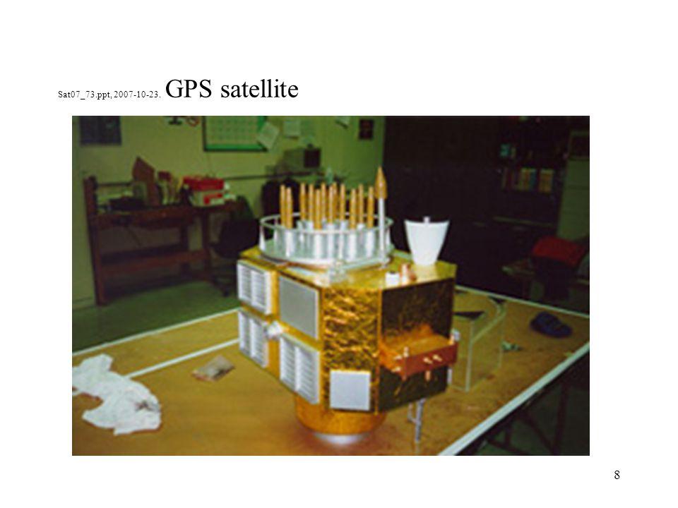 9 Sat07_73.ppt, 2007-10-23. GPS, Observation principle