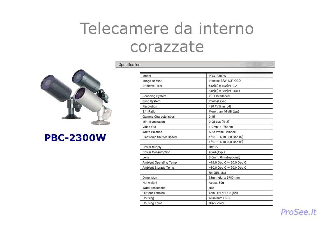 PBC-2300W Telecamere da interno corazzate ProSee.it