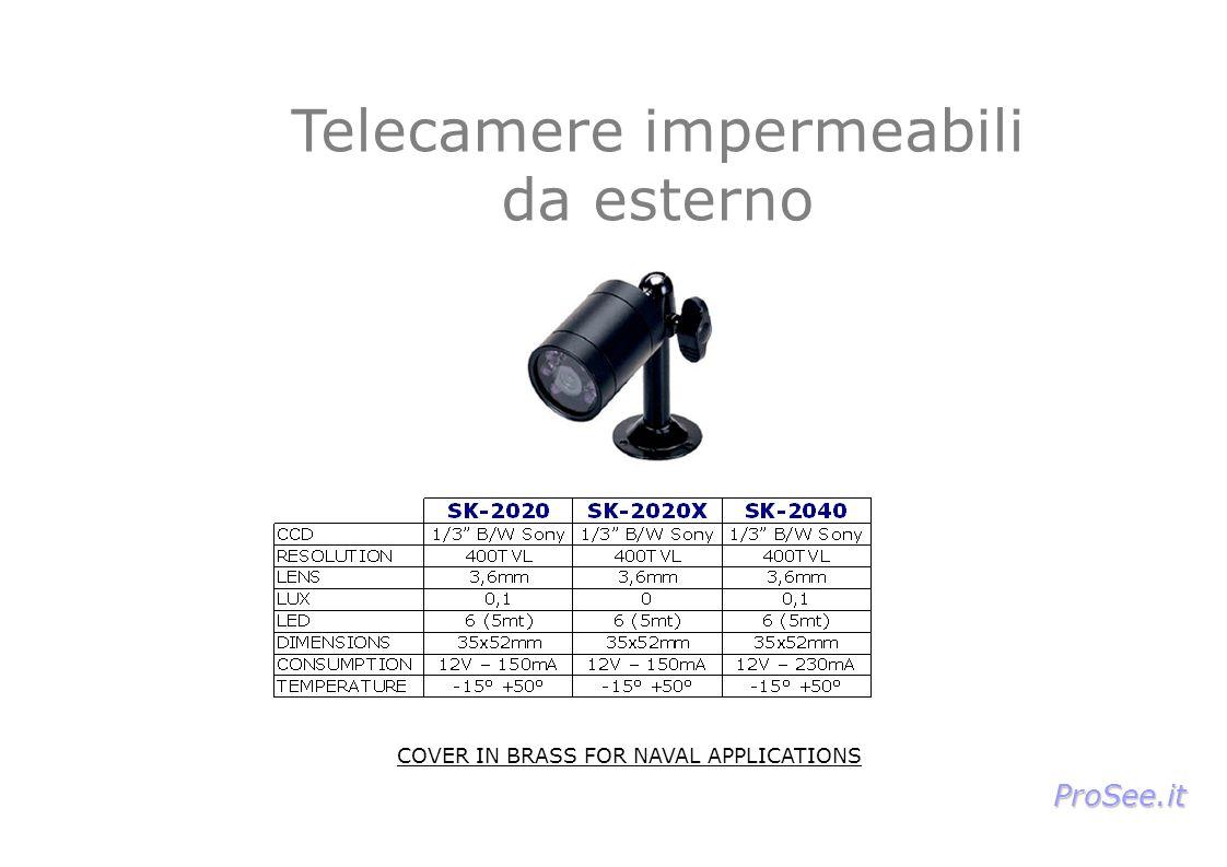 Telecamere impermeabili da esterno COVER IN BRASS FOR NAVAL APPLICATIONS ProSee.it