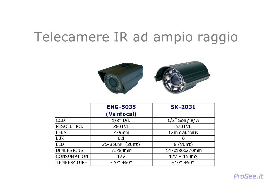 Telecamere IR ad ampio raggio ProSee.it