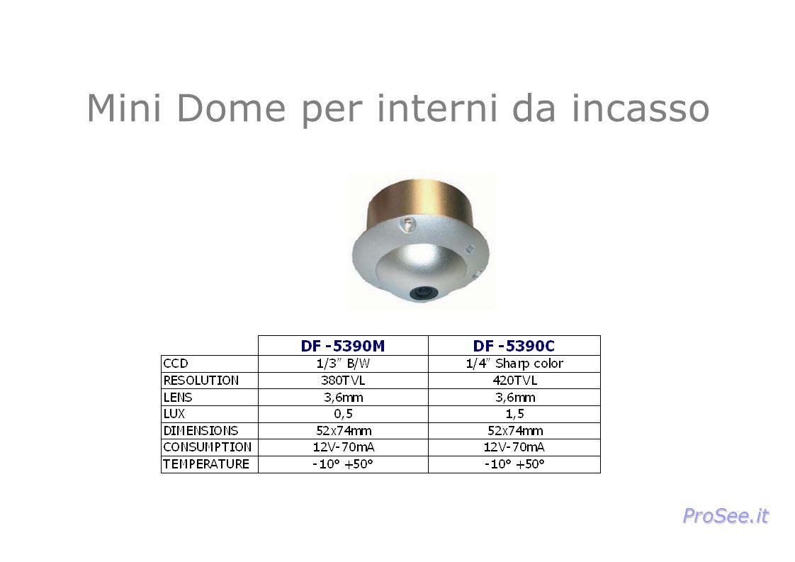 Mini Dome per interni da incasso ProSee.it