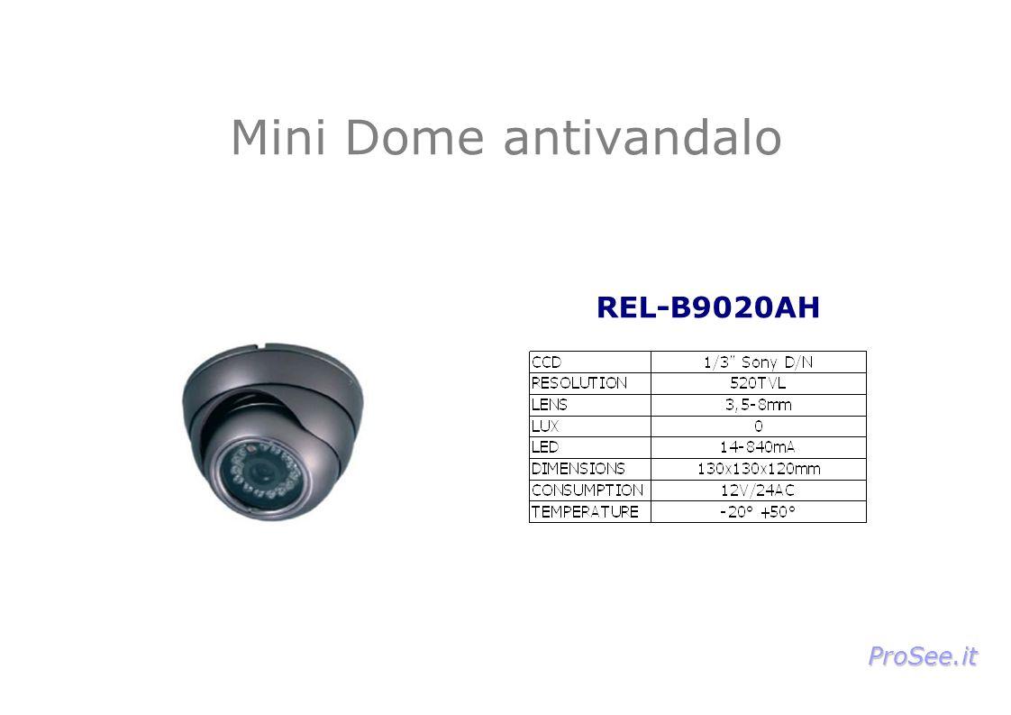 Mini Dome antivandalo REL-B9020AH ProSee.it