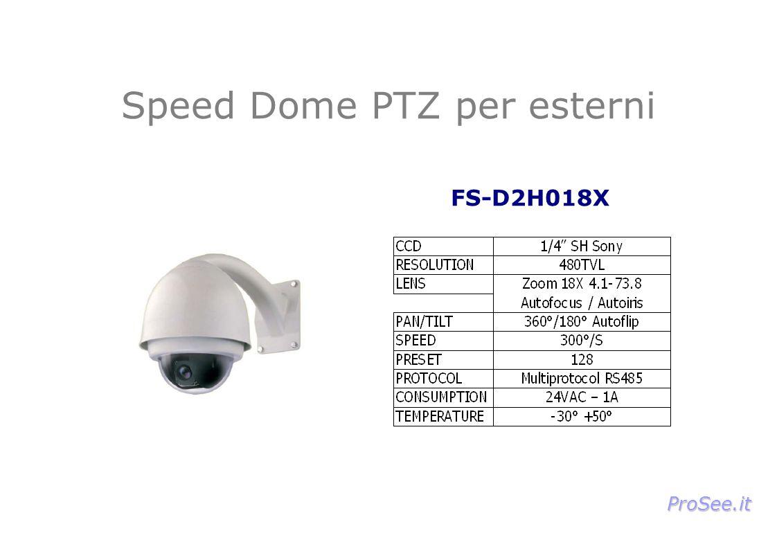 Speed Dome PTZ per esterni FS-D2H018X ProSee.it