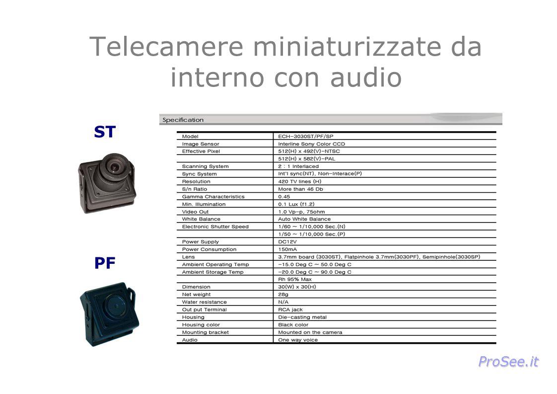 Telecamere miniaturizzate da interno con audio ST PF ProSee.it