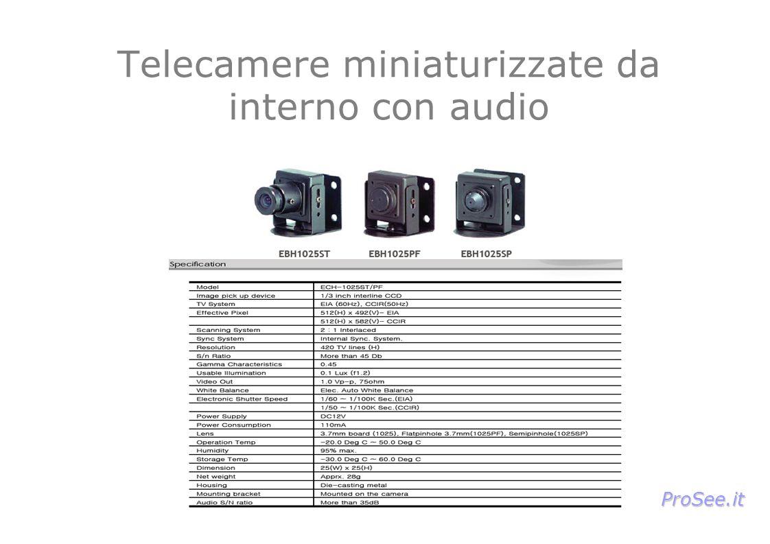 Telecamere miniaturizzate da interno con audio ProSee.it