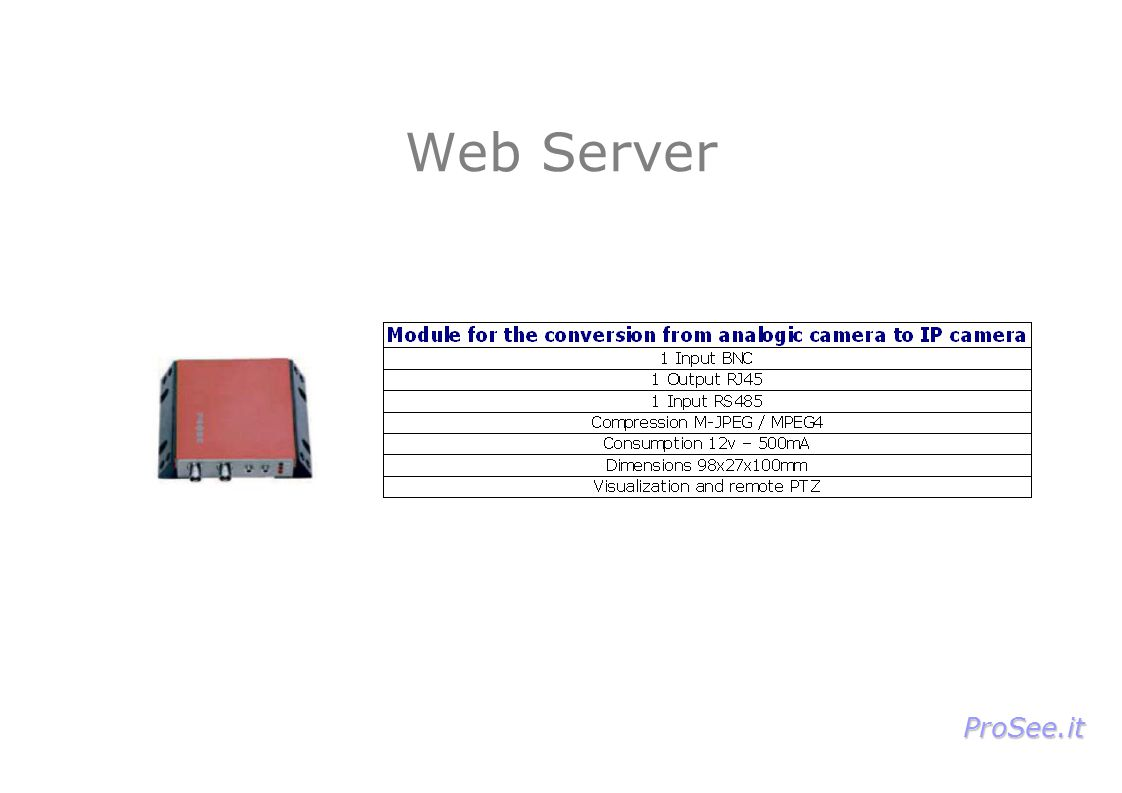 Web Server ProSee.it