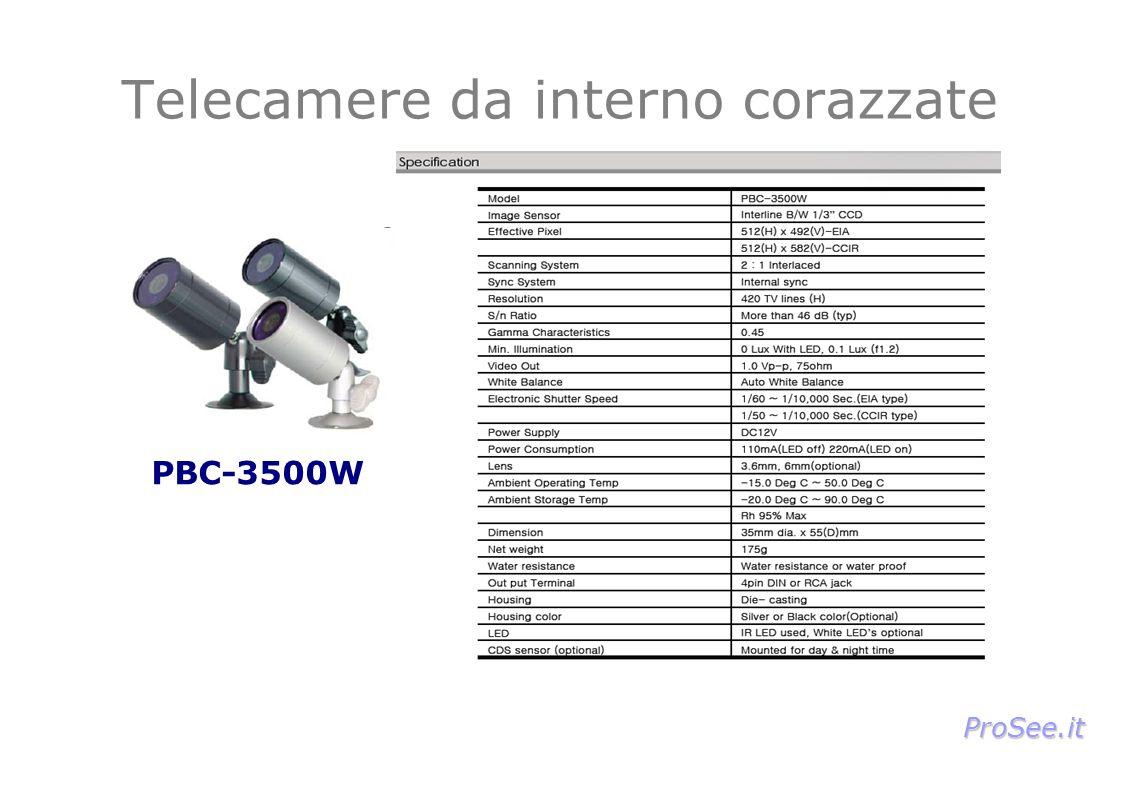 PBC-3500W Telecamere da interno corazzate ProSee.it
