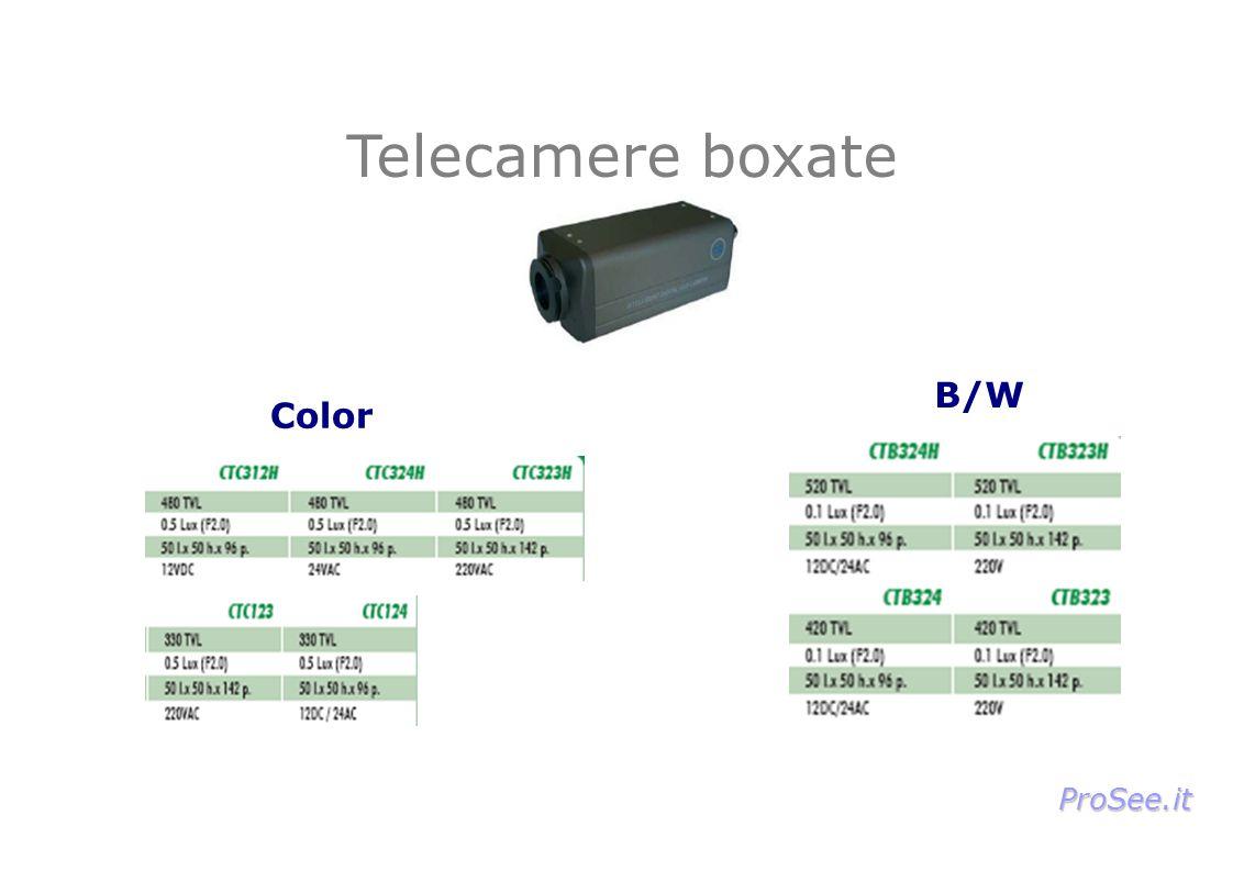 Telecamere boxate Color B/W ProSee.it