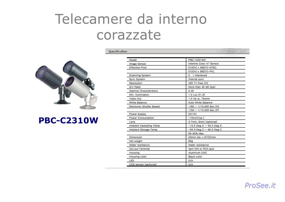 PBC-C2310W Telecamere da interno corazzate ProSee.it