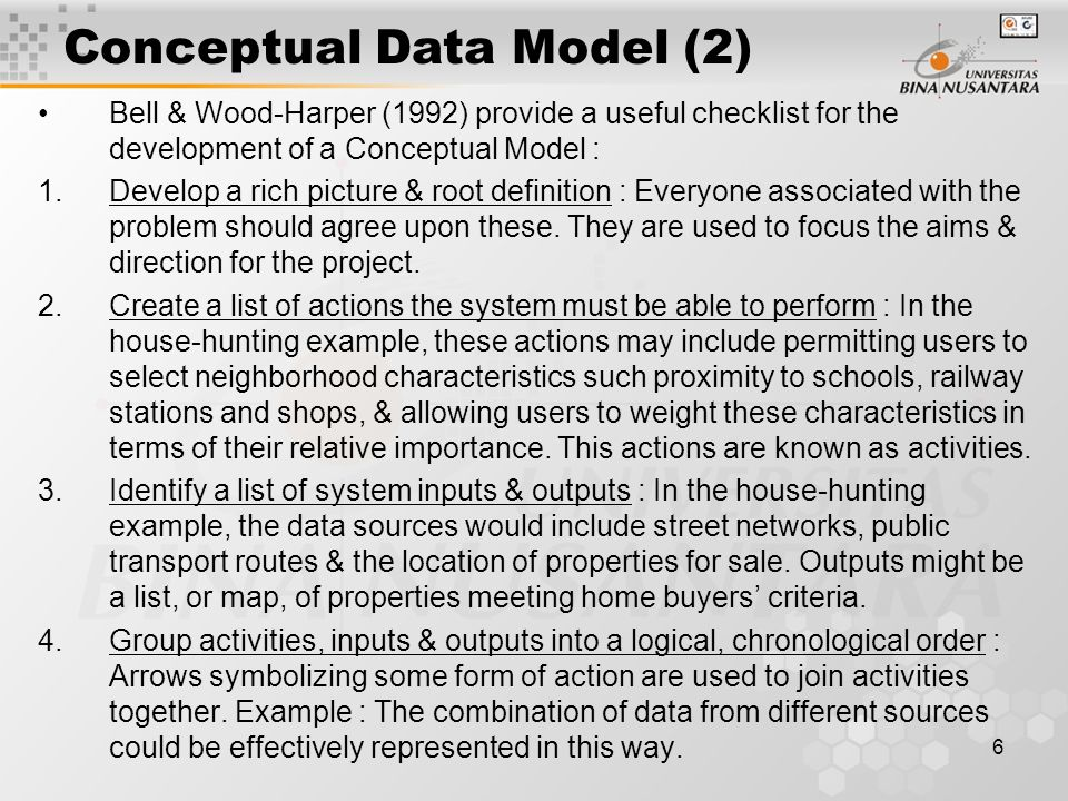 7 Physical Data Model * The Physical Data Model describes the organization of data in the computer.