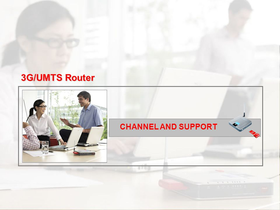 Scenarios Channel and Support Commercial Approach Proposition Overview Introduction Competitors CHANNEL AND SUPPORT 3G/UMTS Router