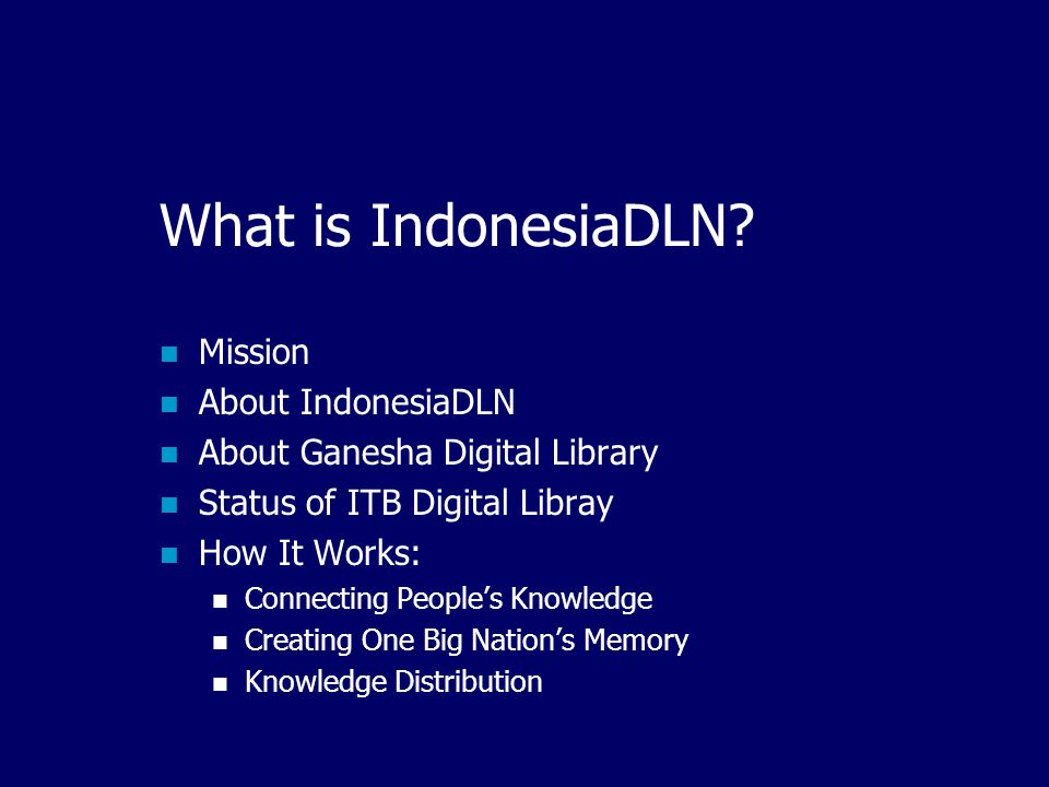 IndonesiaDLN Connecting People's Knowledge and Creating One Big Nation's Memory Ismail Fahmi IndonesiaDLN General Secretary