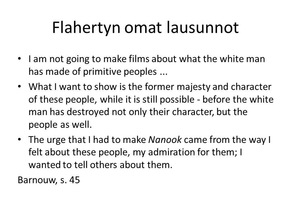 Flaherty ja participation mystique ...