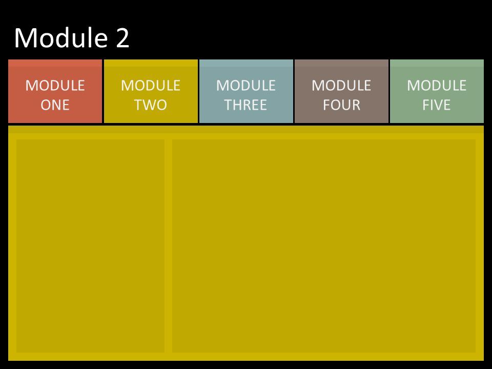 MODULE FIVE MODULE FOUR MODULE THREE MODULE TWO MODULE ONE Module 2
