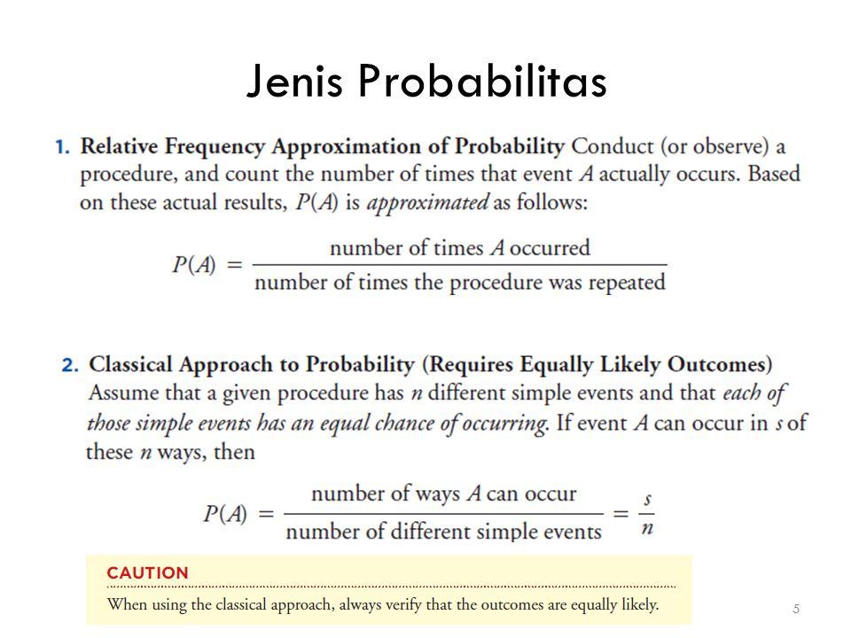Jenis Probabilitas 5