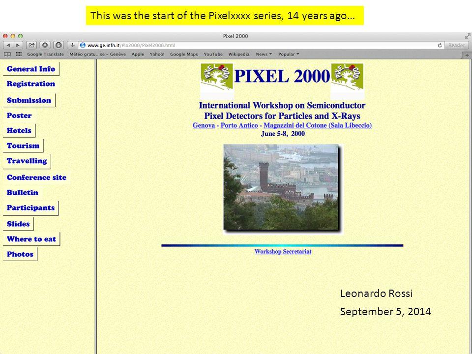This was the start of the Pixelxxxx series, 14 years ago… Leonardo Rossi September 5, 2014