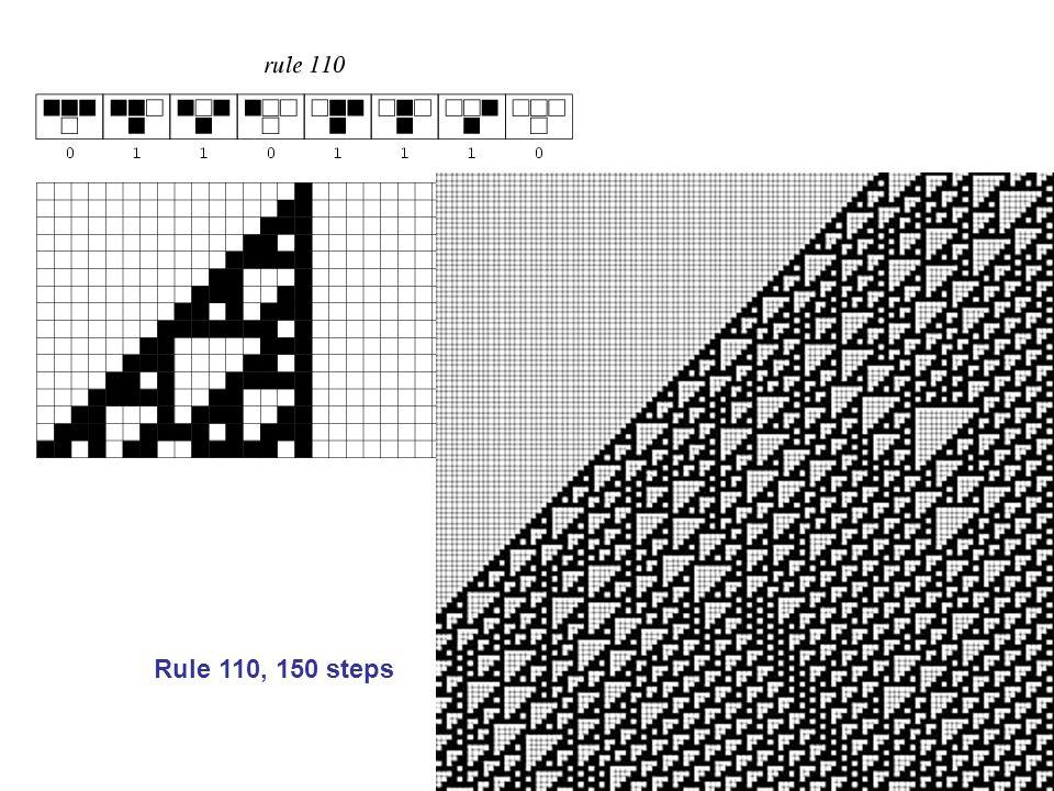 Rule 110, 150 steps