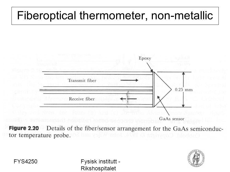 FYS4250Fysisk institutt - Rikshospitalet Fiberoptical thermometer, non-metallic