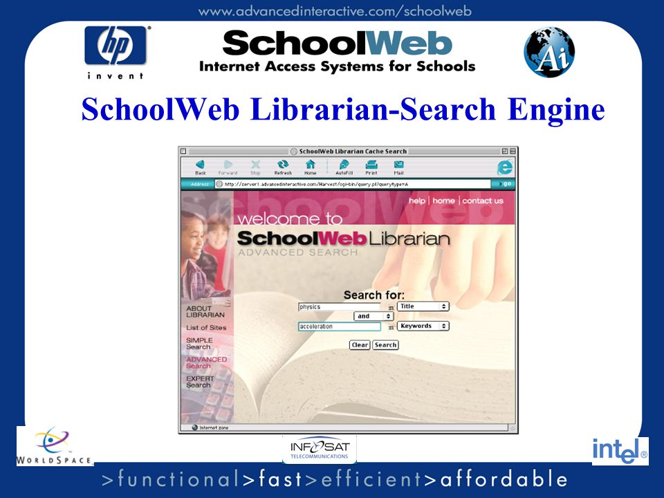SchoolWeb Librarian-Search Engine