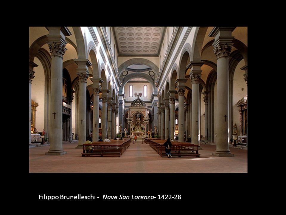 Filippo Brunelleschi - Nave San Lorenzo- 1422-28