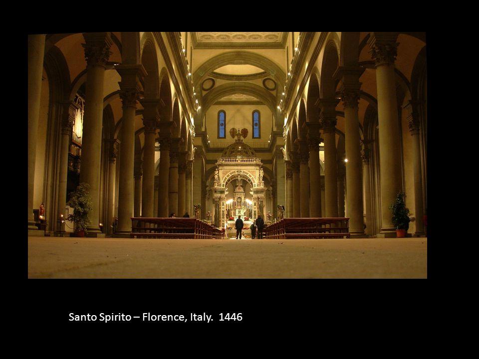Santo Spirito – Florence, Italy. 1446