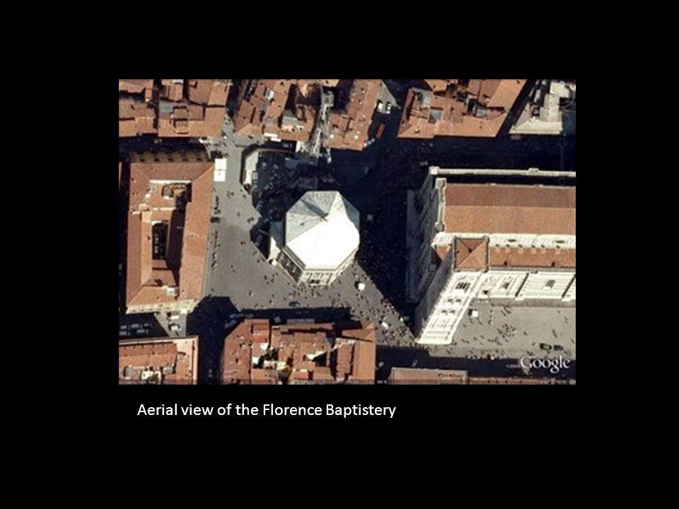 Aerial view of the Florence Baptistery