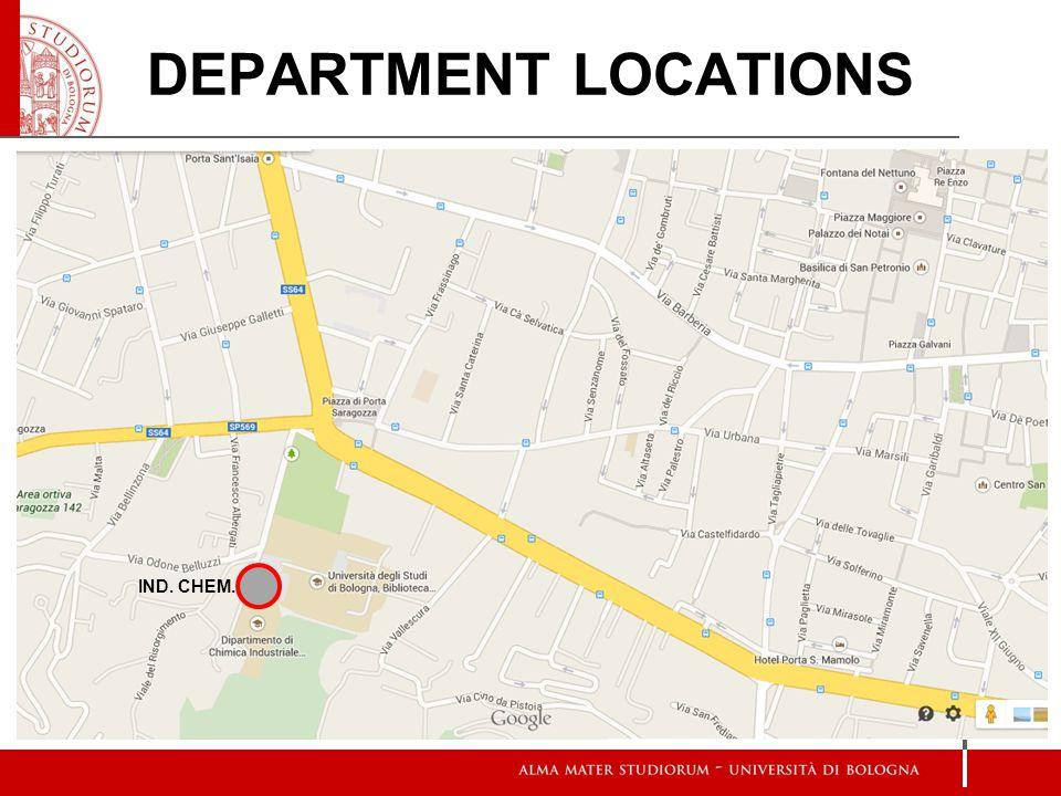 IND. CHEM. DEPARTMENT LOCATIONS