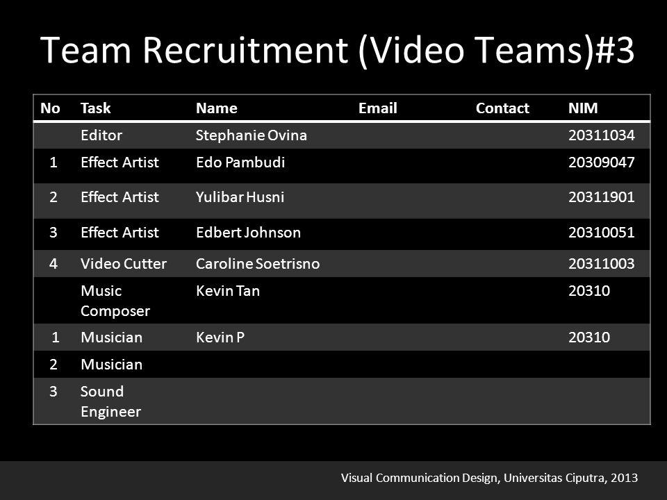 Visual Communication Design, Universitas Ciputra, 2013 Team Recruitment (Video Teams)#3
