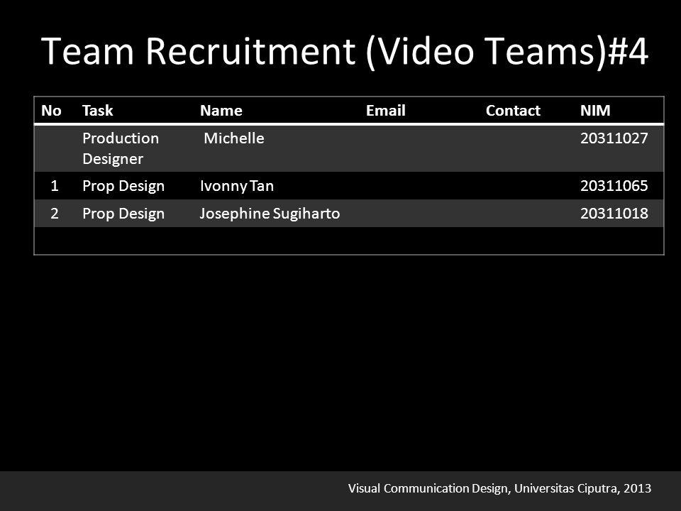 Visual Communication Design, Universitas Ciputra, 2013 Team Recruitment (Video Teams)#4
