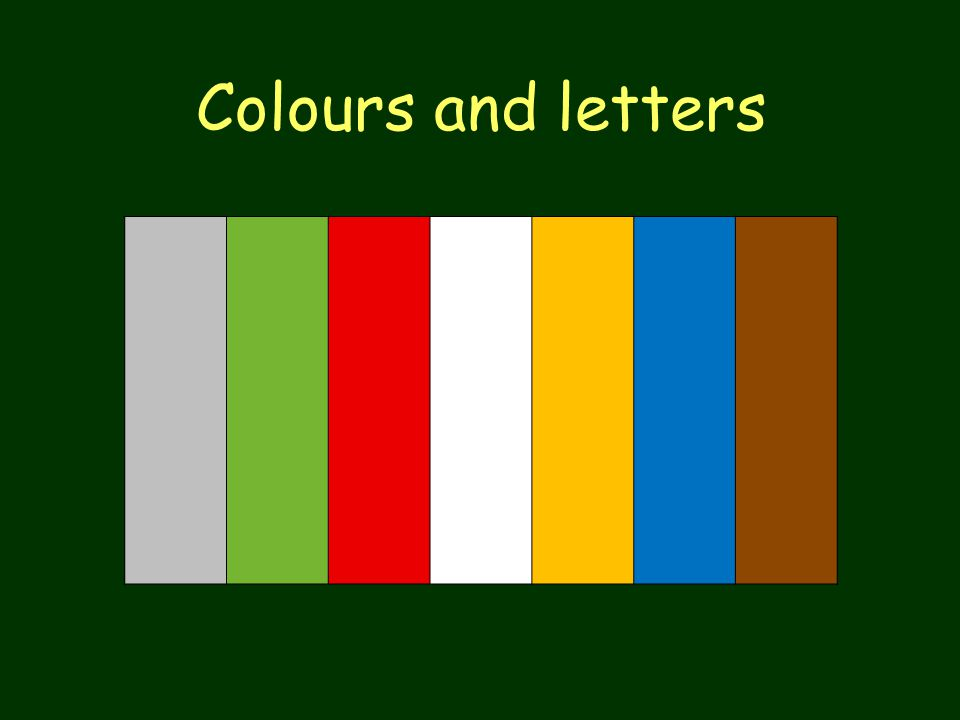 Colours and letters