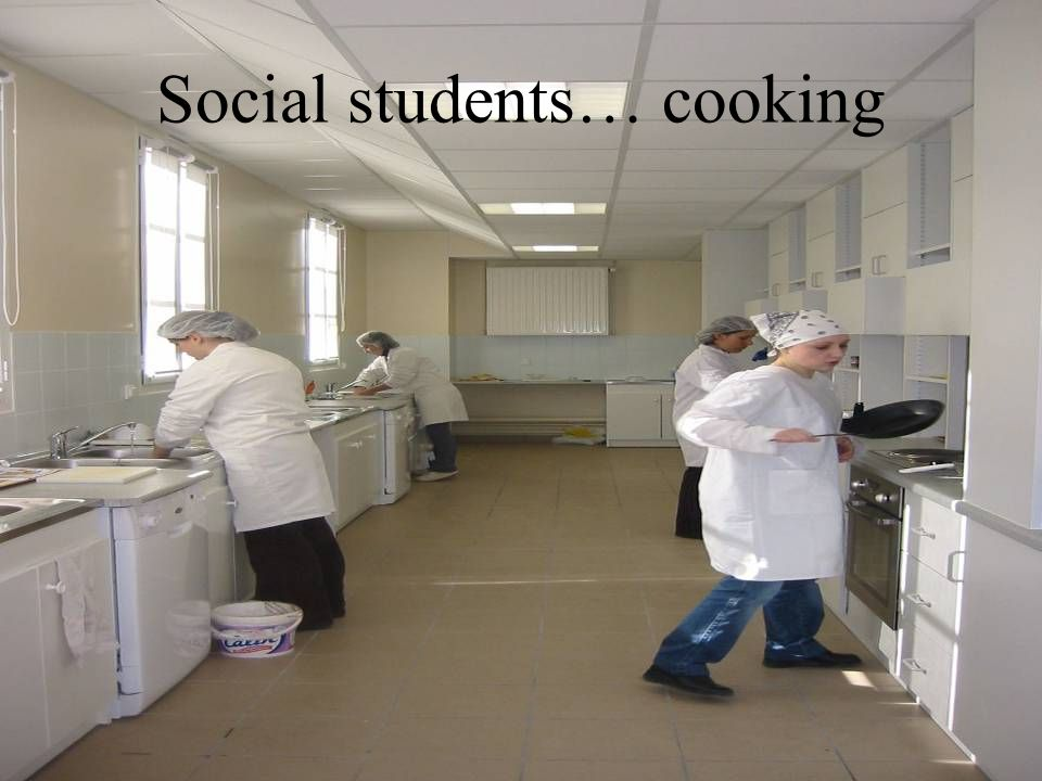 Social students… cooking