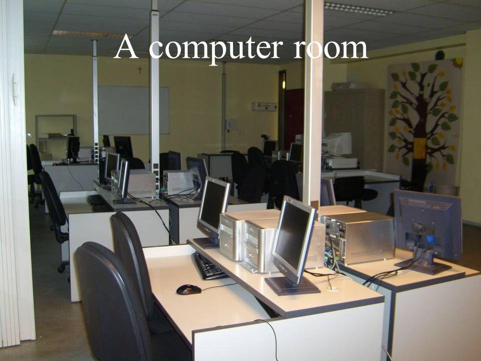 A computer room