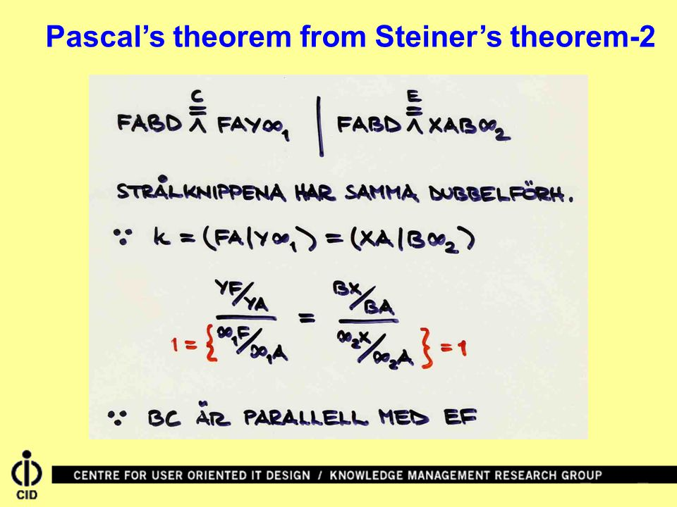 Pascal's theorem from Steiner's theorem-2