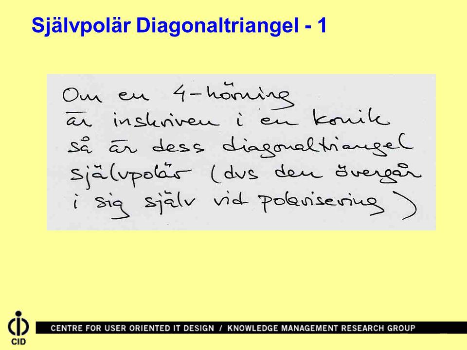 Självpolär Diagonaltriangel - 1