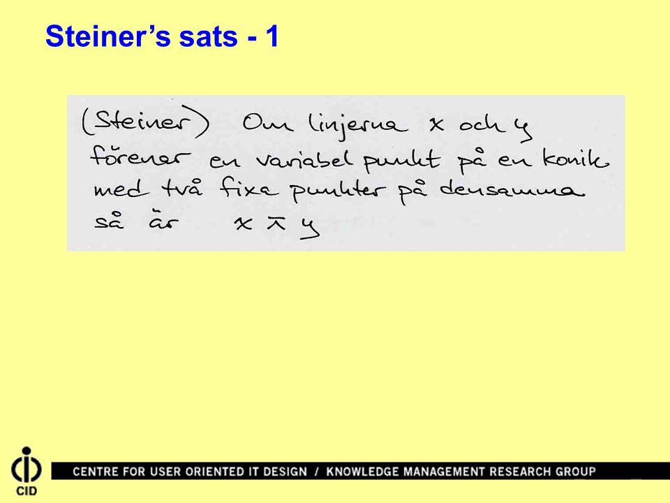 Steiner's sats - 1