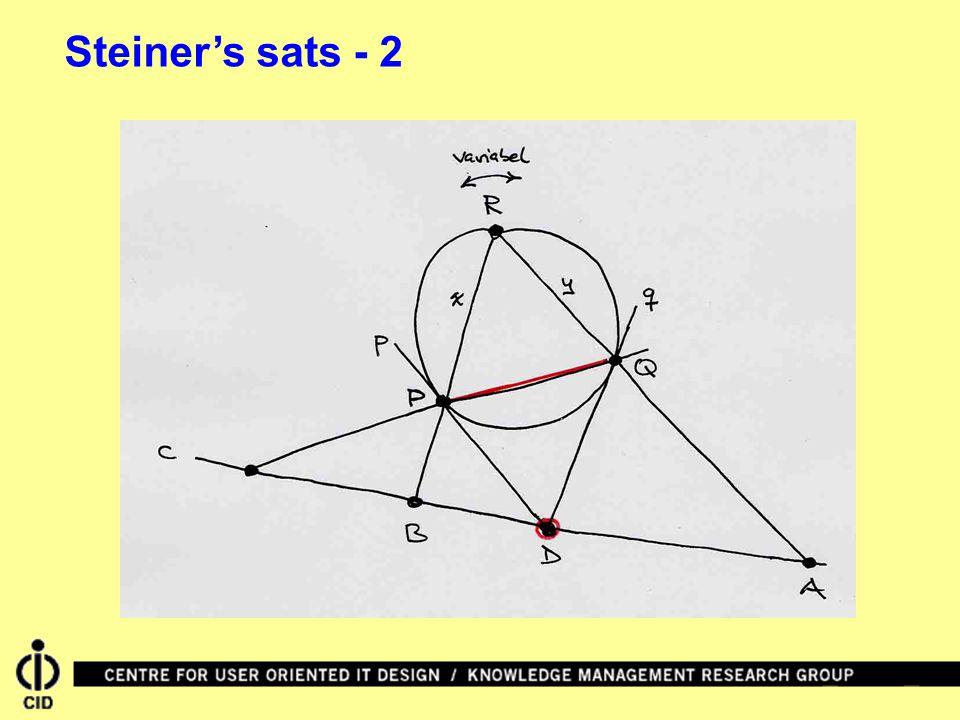 Steiner's sats - 2