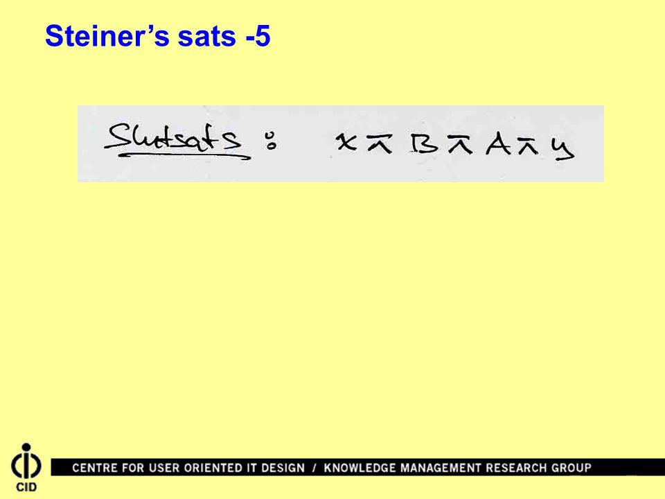 Steiner's sats -5