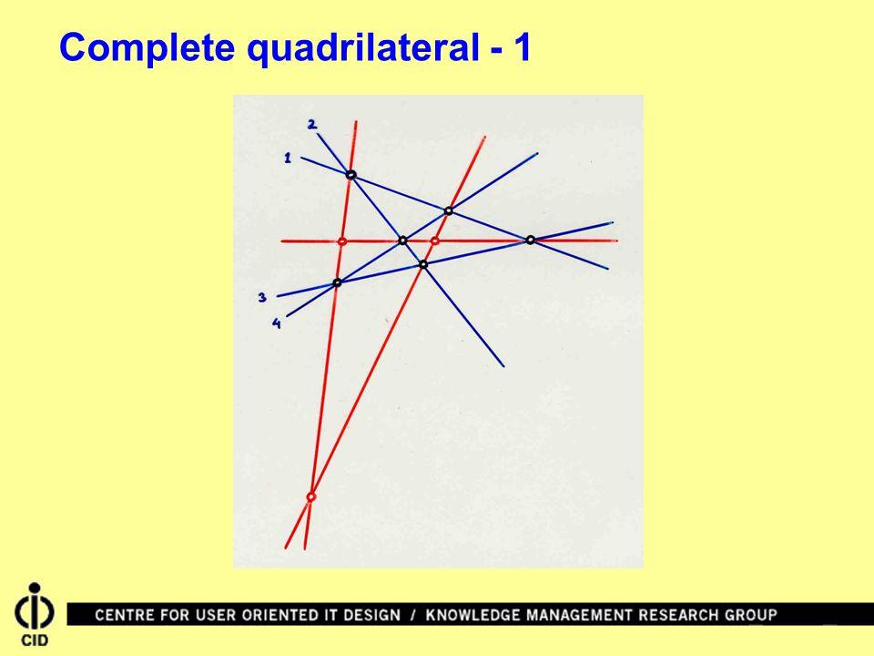 Complete quadrilateral - 1