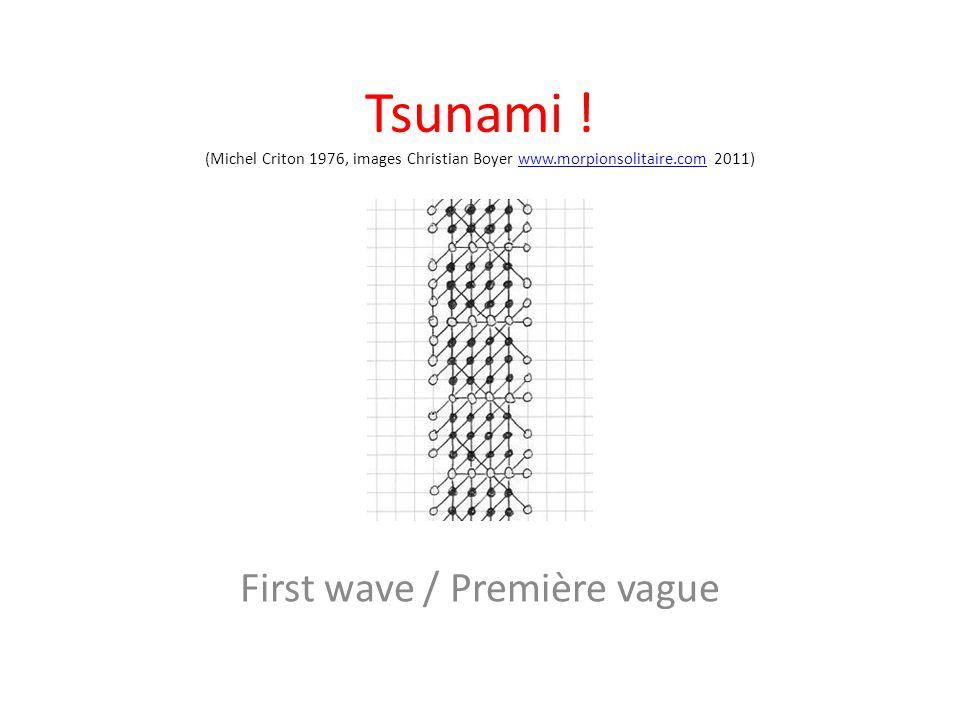 Tsunami ! (Michel Criton 1976, images Christian Boyer www.morpionsolitaire.com 2011)www.morpionsolitaire.com First wave / Première vague