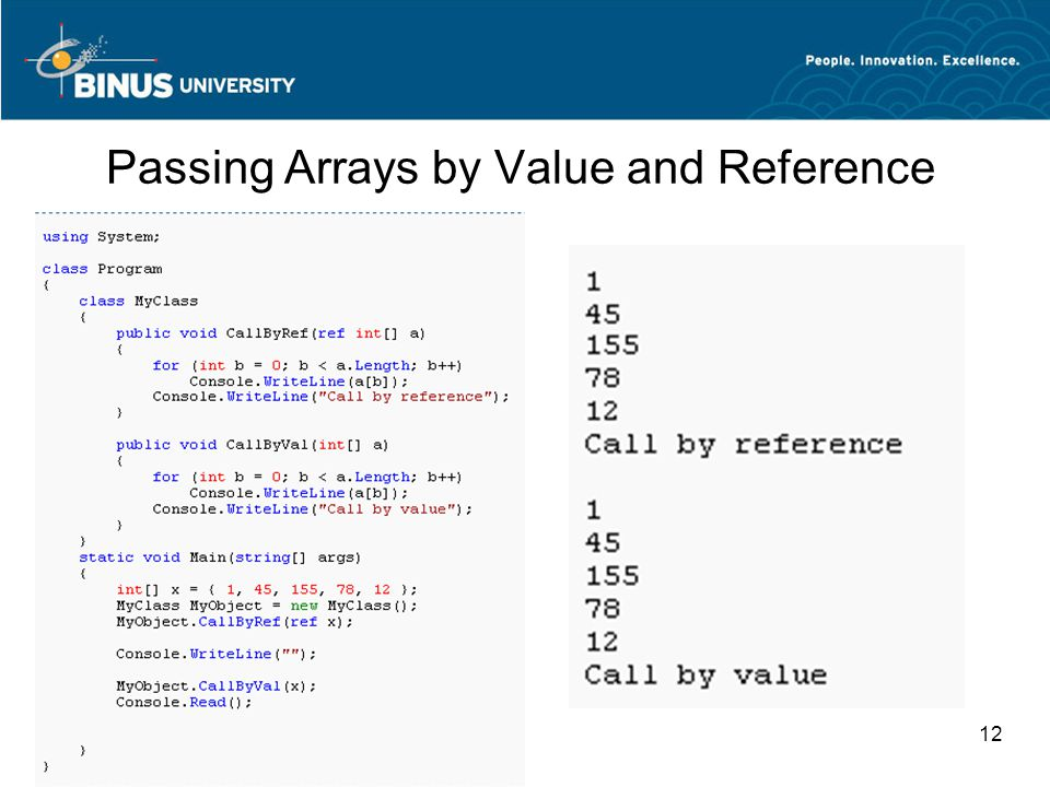 12 Passing Arrays by Value and Reference