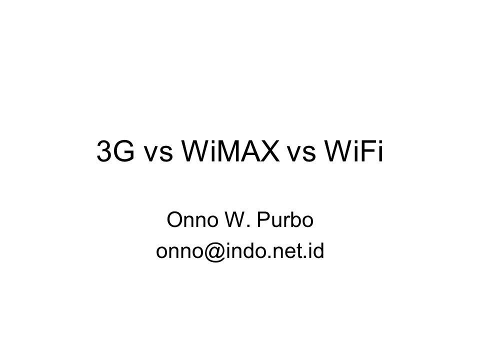 3G vs WiMAX vs WiFi Onno W. Purbo onno@indo.net.id